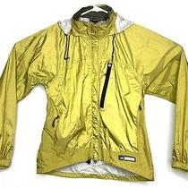 Rei E1 Elements Womens Size Medium Waterproof Rain Hooded Nylon Jacket Green A5 Photo