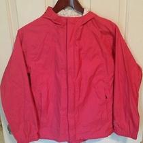 Rei Elements Dark Pink Rain Jacket Parkafull Ziptaped Seamshoodgirls 14-16 L Photo