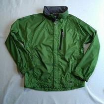 Rei Elements E1 Youth Boys/girls Green Full Zip Rain Jacket Hoodie Size l(12/14) Photo