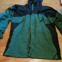 Rei Elements Men's Green/black Nylon Zip Front Hooded Jacket - Size Small Photo