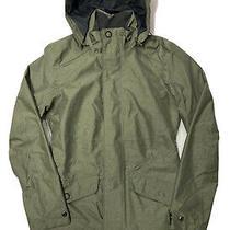 Rei Elements Rain Jacket Women's Xs Green Hooded Waterproof Shell Guc  Photo