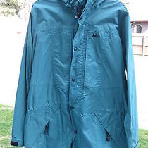 Rei Elements Shell Parks Green Taped Seams  Men's Size Large Euc Photo