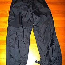 Rei Elements Waterproof Rain Pants Lined Zip Ankles Taped Seams Golf Hike 16 Wm Photo