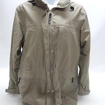 Rei Elements Womens Beige Windbreaker/rain Jacket - Size Large - Euc Photo