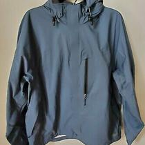 Rei Men's Blue Full Zip E1 Elements Rain Jacket  Hooded Size Xl Photo