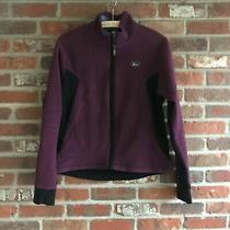 Rei  Purple /black  Full Zip Thumb-Hole  Women's Fleece Jacket M Photo