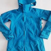 Rei Rain Jacket E1 Elements Women's Full Zip Hood Coat Blue Shell Size Xs  Photo