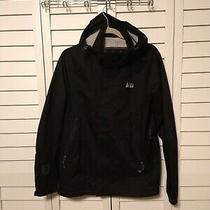 Rei Rain Jacket (Small) Athletic Hiking Men's Black Hooded E1 Elements Euc Photo