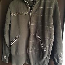 Rei Skater Element Cotton Zip Up Track Jacket Sweatshirt Thumb Holes Size Small Photo