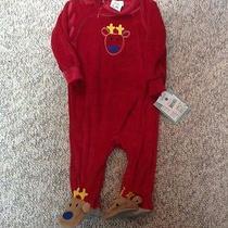 Reindeer Sleepwear. Pajamas for the Holidays. 12 Months. Nwt. Photo