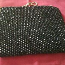 Reiss Adaline Blush  Bag Purse Chain Strap Black Rhinestone 8.5x6.5