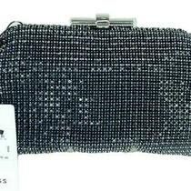 Reiss Adaline Blush Clutch Bag Purse Chain Strap Black Rhinestone 9.5x5