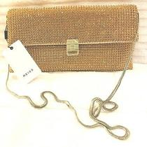 Reiss Albany Blush Clutch Bag Purse Chain Strap Gold Rhinestone 34rwh0013-Bus Photo