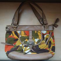 Relic Brand by Fossil Beige Tropical Leaf Zippered Shoulder Bag Handbag Purse Photo