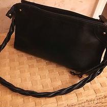 Relic by Fossil Black Designer Handbag Braided Handles Shoulder Bag Euc Photo