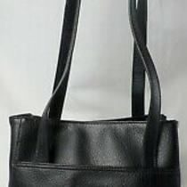 Relic by Fossil Black Leather Double Handles Hobo Tote Satchel Shoulder Bag Mint Photo