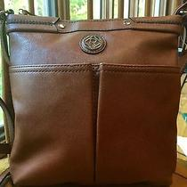 Relic by Fossil Bleeker Collection Messenger & Cross Body Cognac  New Photo