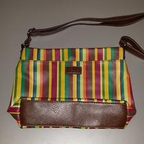 Relic by Fossil Bright Colored Striped Pebble Grain Roomy Handbag Photo