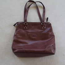 Relic by Fossil Brown Faux Leather Shoulder Bag Photo