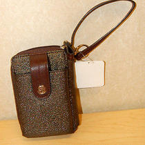 Relic by Fossil Brown Metallic Wristlet Wallet Cell Phone Purse  Photo