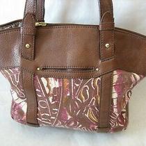 Relic by Fossil Brown Purple Purse Handbag Photo