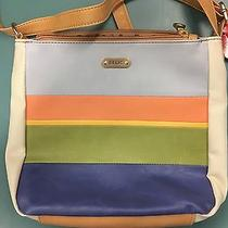 Relic by Fossil Cameron Collection Cross-Body Purse Pastel Stripes  New Photo