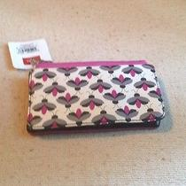 Relic by Fossil Caraway Collection Checkbook Wallet Black Bone Pink Photo