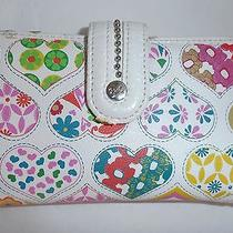 Relic by Fossil Colorful Hearts Trifold Wallet Clutch Photo