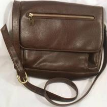 Relic by Fossil Crossbody Purse Flap Faux Leather  Large Brown Messenger Bag Photo