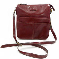 Relic by Fossil Dk Red Faux Leather Crossbody Shoulder Bag Org Wallet 48 Exc  Photo
