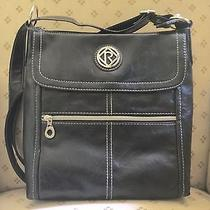 Relic by Fossil Erica Collection Flap Crossbody Messenger Black  New Photo