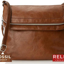 Relic by Fossil Expandable Faux Leather Crossbody Bag Cognac Brown Nwt Photo