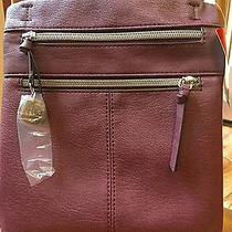 Relic by Fossil Finley Collection Mini Messenger Bag Raisin  New Photo