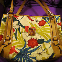 Relic by Fossil Floral Sloane Shopper Tote Bag W/faux Leather Trim Bright Color  Photo