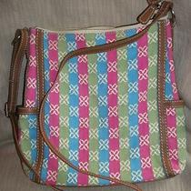 Relic by Fossil Multi Color Fabric Logo Purse/crossbody Free Shipping Photo
