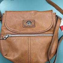 Relic by Fossil Prescott Collection Flap Crossbody Bag  Saddle  New Photo