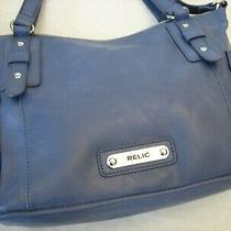 Relic by Fossil Shoulder Bag Crossbody Messenger Purse Blue  Photo