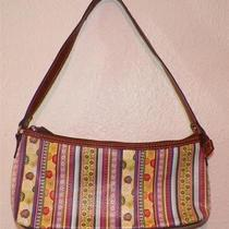 Relic by Fossil Striped Floral Brown Vinyl Purse Photo