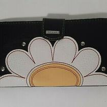 Relic by Fossil Womens Wallet Credit Cards Black / White Yellow Flower Photo