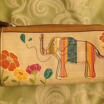 Relic Fossil Wallet Elephant Flowers Beige Photo