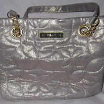 Relic Handbag Purse Quilted Gold Gold Chain Detail Photo
