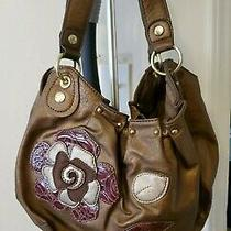 Relic Womens Burnished Gold Hobo Tote Handbag Large Purse Vegan Leather Beauty. Photo