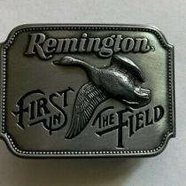 Remington First in the Field Canada Goose Belt Buckle 1980 Photo