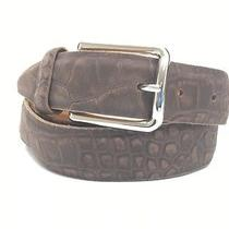 Remo Tulliani Brown Snake Skin Style Leather Men's Belt 85 Photo