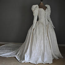 Renaissance Medieval Fantasy Elizabethan Vintage Wedding Dress Gown Size 0 Photo