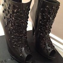Report Signature Designer 400 Boots Booties Shoes 7.5 Stones Crystals High End  Photo