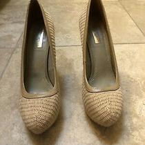 Report Signature Tan Woven Heels Size 9 Photo