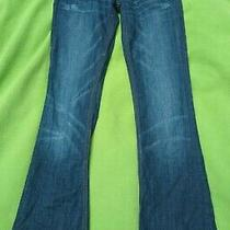 Rerock Express 2 26 Dark Wash Stretch Flare Bell Bottom Tall Distressed Jeans Photo