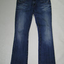 Rerock Express Boot Cut Leg Denim Jeans Womens 6 R 6r X 32 Stretch Blue  Photo