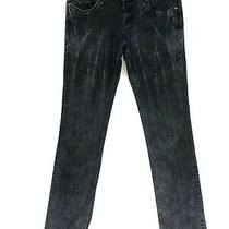 Rerock for Express Straight Jeans Black Embellished Womens Size 10 W30 L31 Photo